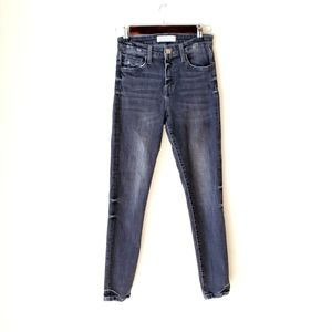 FLYING MONKEY distressed high rise skinny jeans